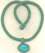 Paua Shell Pendant Green Beaded Rope Choker 6 - $33.71