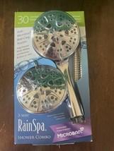Rain Spa Microban Anti-Clog 3-Way Shower Head Combo NIB - $34.65