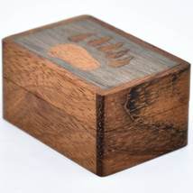 Northwoods Wooden Parquetry Country Rustic Cabin Bear Paw Mini Trinket Box image 2