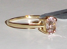 10K Yellow Gold Pink Morganite Oval Solitaire Ring, Size 5, 1.06(TCW) 1.... - $139.99