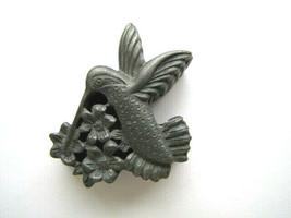 Torino Hummingbird Pewter Pin with trinket box - VTG 1980's-90's - $11.64