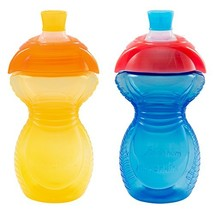Munchkin Click Lock Bite Proof Sippy Cup, Yellow/Blue, 9 Ounce, 2 Count - $17.10