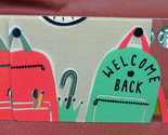 Lot of 2 Starbucks 2017 WELCOME BACK Gift Cards New with Tags