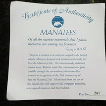 """Certificate of Authenticity """" ONLY """" Titled Manatees for a work done by ... - $27.71"""