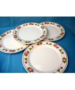 4 G.E.T. Enterprise Round Melamine Dinner Plate Tea Rose Pattern  M-5090... - $27.82