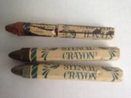 Vintage 1987 Plaid Enterprises Stencil Wax Crayon Oil Base Gold Silver Copper - $8.56