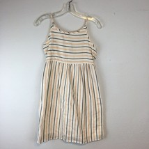 Old Navy Girls Spaghetti Strap Yellow & White Striped Midi Dress Size XL 14 - $10.79