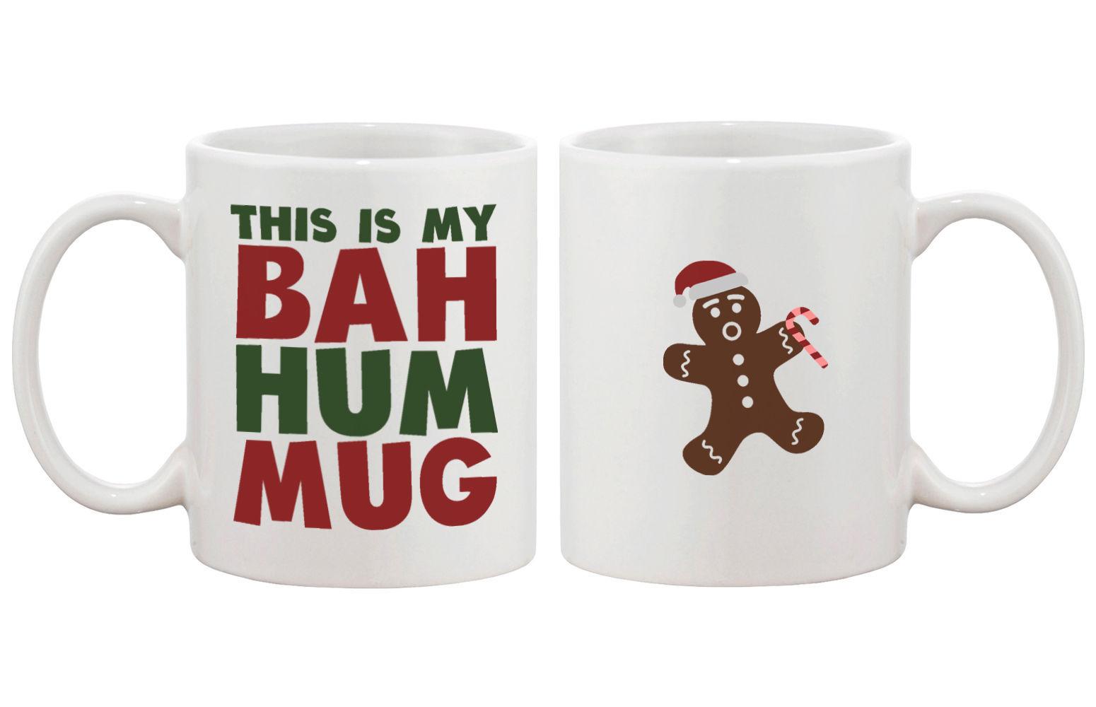 This Is My Bah Hum Mug Cute Christmas Gift Idea Funny Coffee Mugs for Holidays