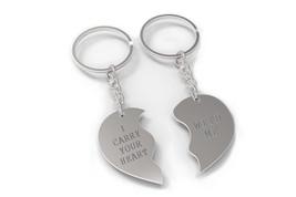 I Carry Your Heart With Me Half Hearts Couple Keychains Cute Matching Ke... - $19.99