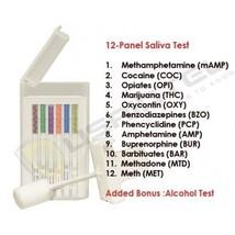 5 12 Panel Saliva Drug Tests - Drug Test 12 Drugs - Free Shipping! - $62.56