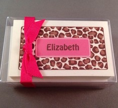 Personalized Name Elizabeth Stationary Gift Enclosure Card Envelope Pink... - $11.64