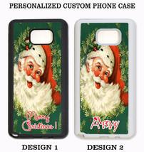 CHRISTMAS VINTAGE SANTA CUSTOM NAME PHONE Case For Samsung Galaxy S6 S5 ... - $11.99+