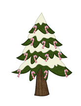 Candy Cane Tree-Digital clipart - $2.00
