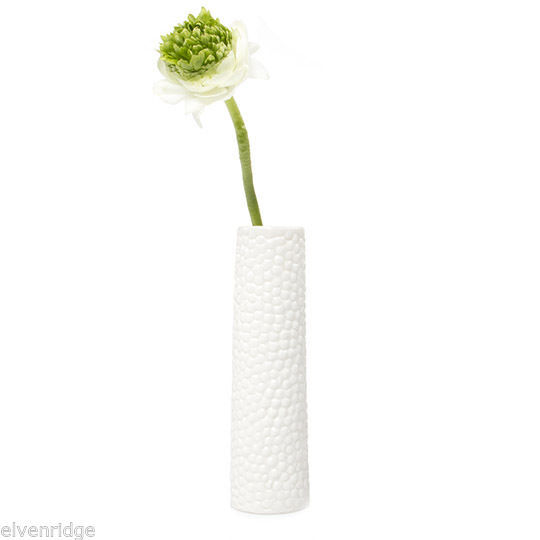 Chive New Miami White Bubbles Flower Bud Vase