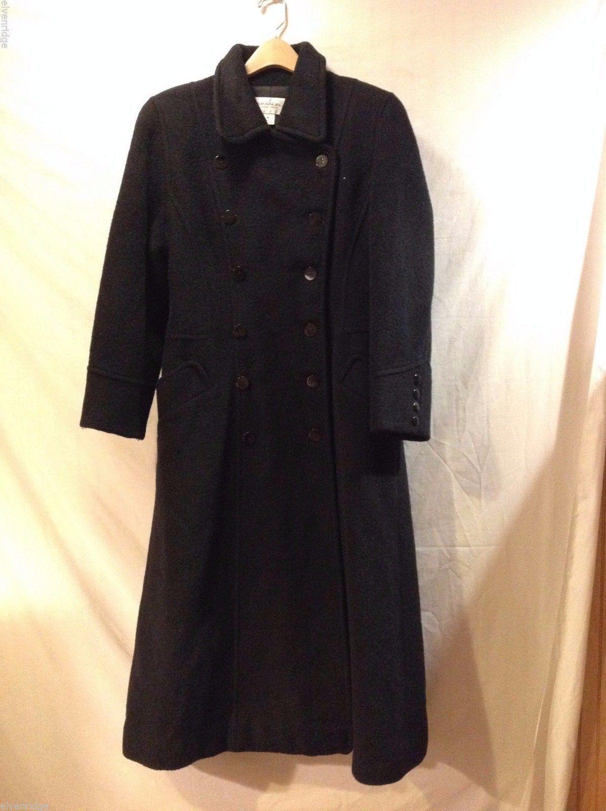 Emanuel Ungaro Wool Alpaca Mohair Blend Winter Full Length Coat