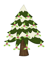 Holly Jolly Tree-Digital clipart - $2.00
