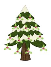 Holly Jolly Tree-Digital clipart - $1.00
