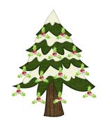 Holly Jolly Tree-Digital clipart - $4.00