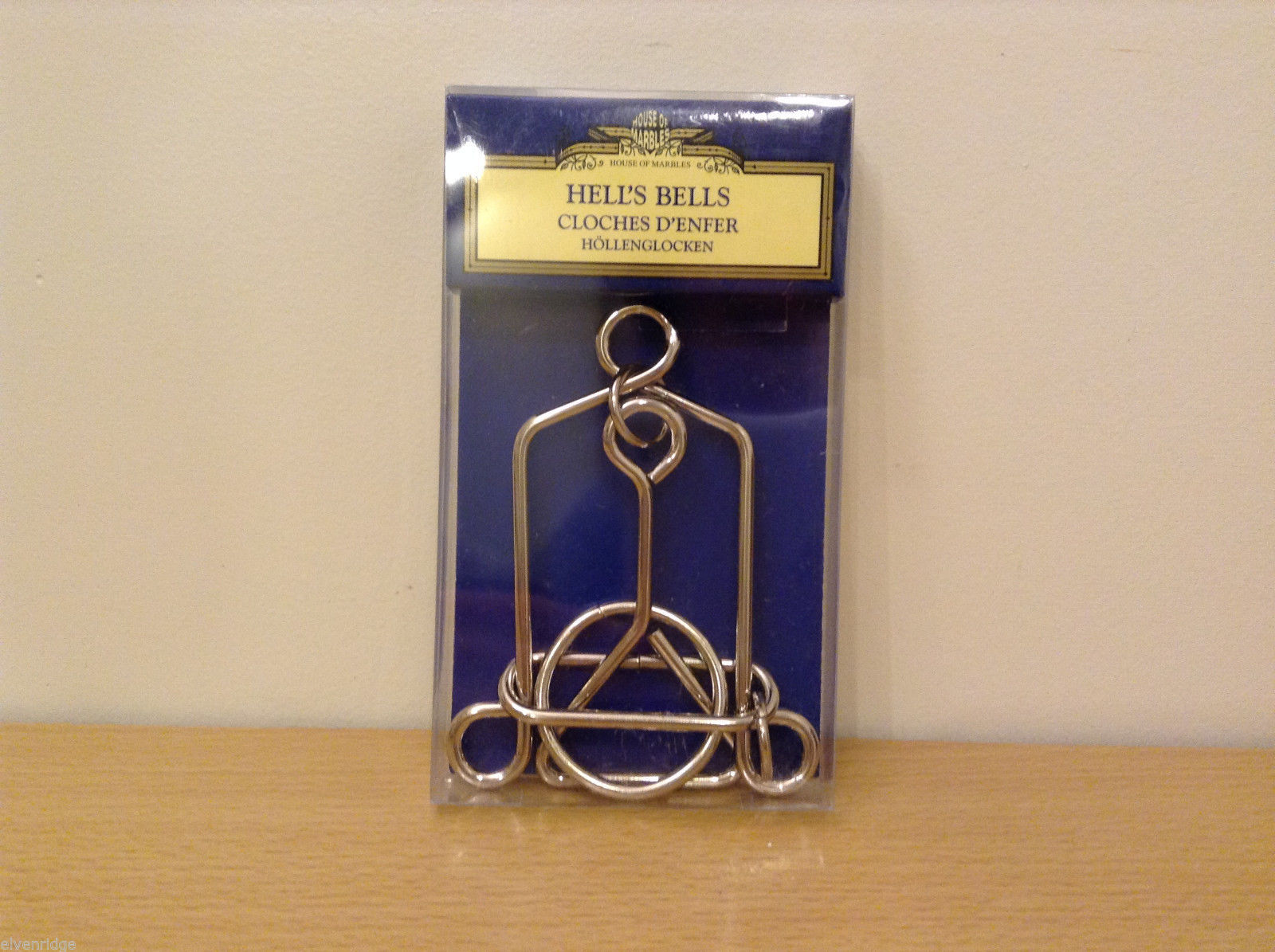 NEW House of Marbles Hell's Bell's Metal Puzzle Remove The Ring