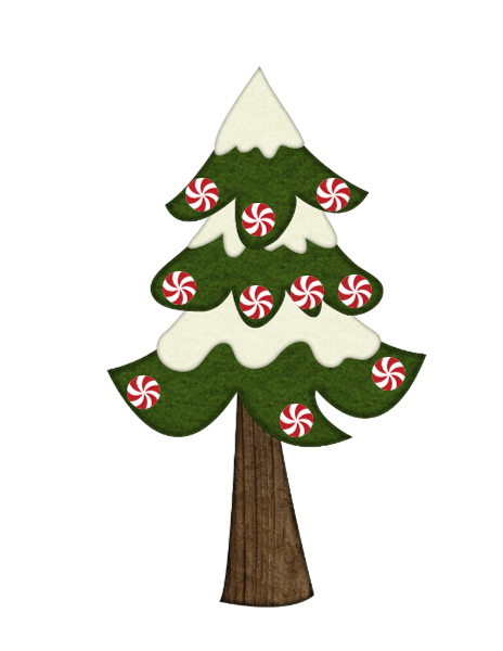 Peppermint Candy Tree-Digital clipart