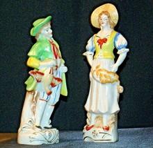 Pair of Hand painted Figurines AA-192055 Vintage Japan image 2