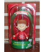 Peanuts Charlie Brown NIP Holiday Clip On Bobble Head Ornament Collectib... - £8.83 GBP