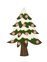 Peppermint Candy Tree 2-Digital clipart - $4.99