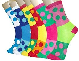 ICONOFLASH Casual Printed Bundle Crew Socks, Assorted Colors, Packs of 6 (Col... - $12.86