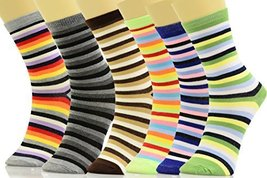 ICONOFLASH Casual Printed Bundle Crew Socks, Assorted Colors, Packs of 6 (Mul... - $12.86