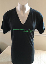 Two Beers Brewing Company V Neck T-Shirt Seattle, WA Dark Green Men's XL - $24.99
