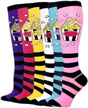 ICONOFLASH Casual Knee High Socks in Assorted Colors, 6 Pair Bundle Pack, (Po... - $17.81