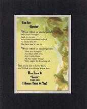 Touching and Heartfelt Poem for Special Friends - You Are Special Poem o... - $15.79