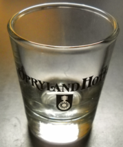 Opryland Hotel Shot Glass Clear Glass with Black and White Mandolin Mark... - $6.99