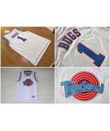 Bugs Bunny #1 White Space Jam Tune Squad Movie Jersey (Mesh) - $29.97