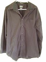 Arrow Mens Black Dress Shirt Size 16-16 1/2 Large Button Front Long Sleeve - $21.55