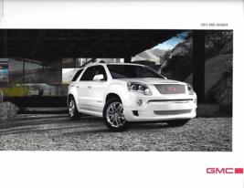 2011 GMC ACADIA sales brochure catalog US 11 SLE SLT Denali TRUCK - $6.00