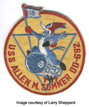 US Navy USS Allen M. Sumner DD-692 Destroyer Military Patch  - $9.99