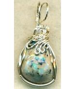 Australian Opal Silver Wire Wrap Pendant 57 - $34.99