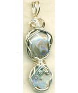 Australian Opal Silver Wire Wrap Pendant 7 - $34.99