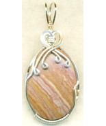 Wonder Stone Rhyolite Silver Wire Wrap Pendant 13 - $34.99