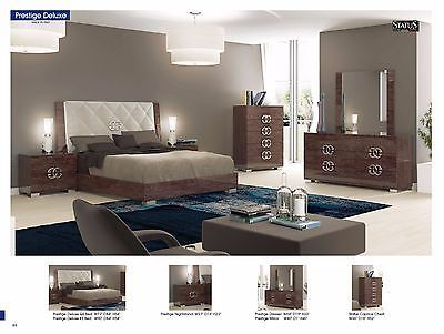ESF Prestige Deluxe Bedroom Set Queen Bed Modern Contemporary Made in Italy