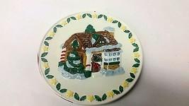 Vintage Christmas House Cookie Plate Polar Pals - $10.89