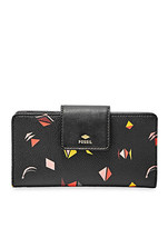 FossilBlack Multi PVC/Man Made Snap Closure Fab Gold-Tone Hardware Clutc... - $129.99