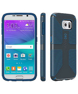 Speck CandyShell Grip Case for Samsung Galaxy S6 Charcoal gray/harbor blue - $13.99