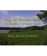 Psychic Power Spell Cast, Ritual Preformed To E... - $30.00