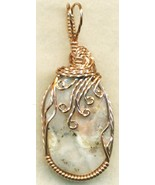 Pink Opal Copper Wire Wrap Pendant 8 - $25.06
