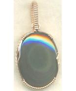 Rainbow Obsidian Copper Wire Wrap Pendant 51 - $22.34