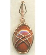 Red Jasper Copper Wire Wrap Pendant 11 - $22.34