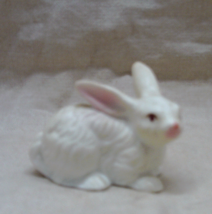 Vintage Miniature BONE CHINA White Rabbit Figurine Made in Japan - $8.00