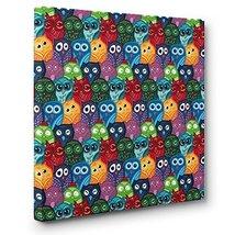 Owl Pattern CANVAS Wall Art Home Dcor - $17.33